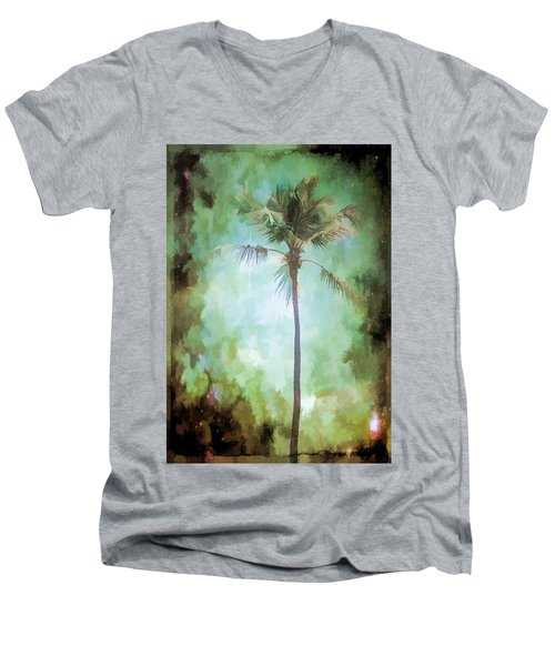 Men's V-Neck T-Shirt featuring the photograph Pleasant Night To Be Alone by Jan Amiss Photography