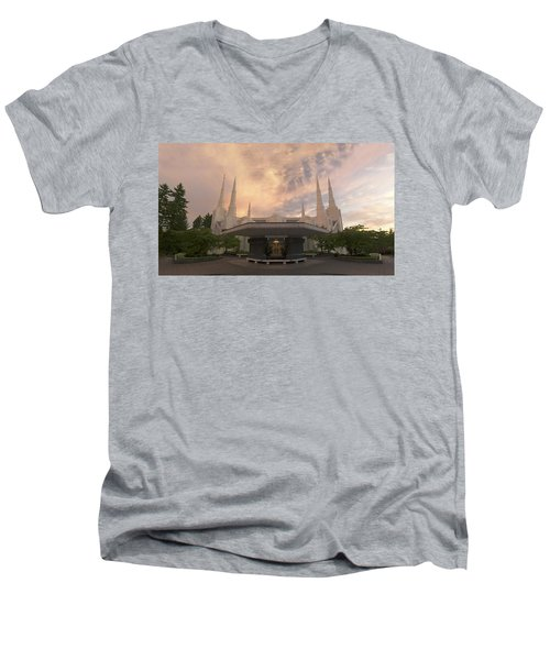 Portland Temple Men's V-Neck T-Shirt
