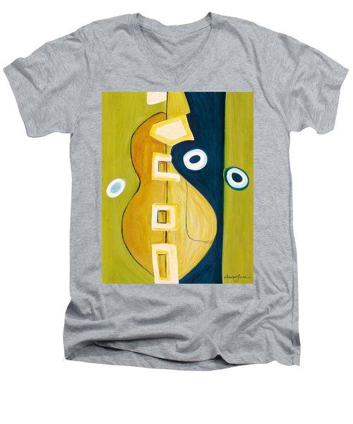 Portrait Of A Humble Man 4 Men's V-Neck T-Shirt