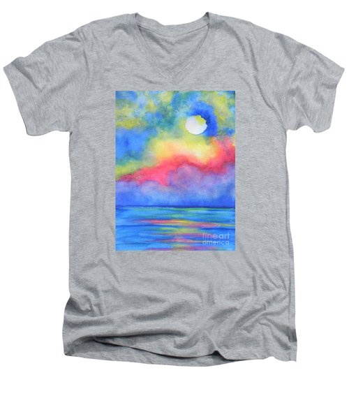 Men's V-Neck T-Shirt featuring the painting Power Of Nature  by Chrisann Ellis