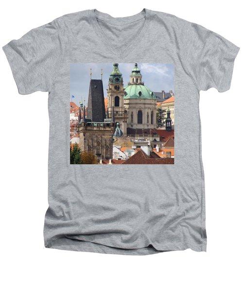 Men's V-Neck T-Shirt featuring the photograph Prague by Ira Shander