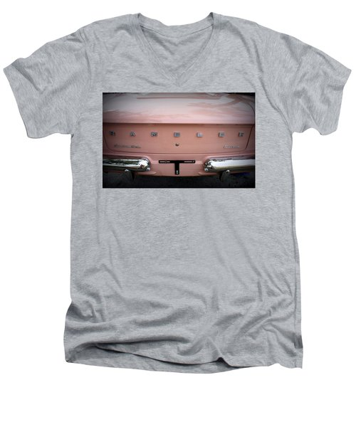 Men's V-Neck T-Shirt featuring the photograph Pretty In Pink by Laurie Perry