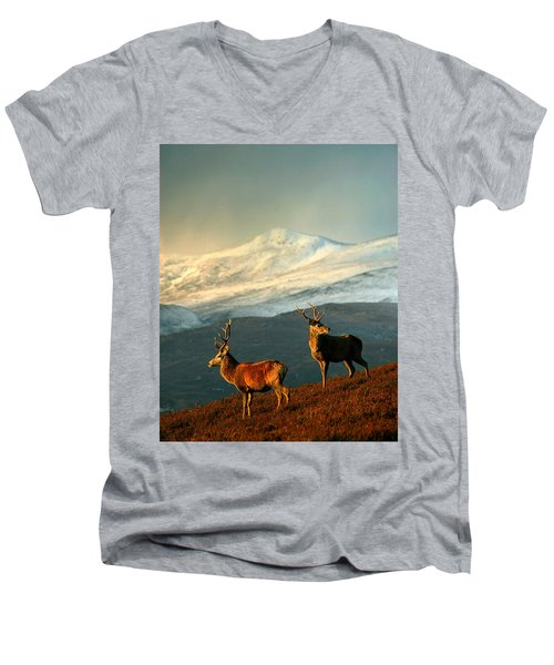 Red Deer Stags Men's V-Neck T-Shirt