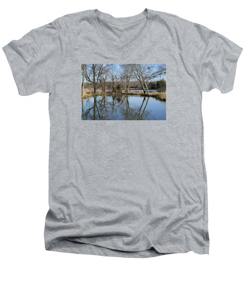 Men's V-Neck T-Shirt featuring the photograph Reflection by Heidi Poulin