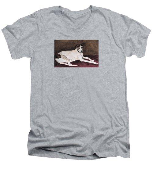Resting Gracefully Men's V-Neck T-Shirt by Angela Davies