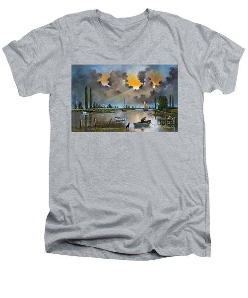 River Yare On The Broads Men's V-Neck T-Shirt