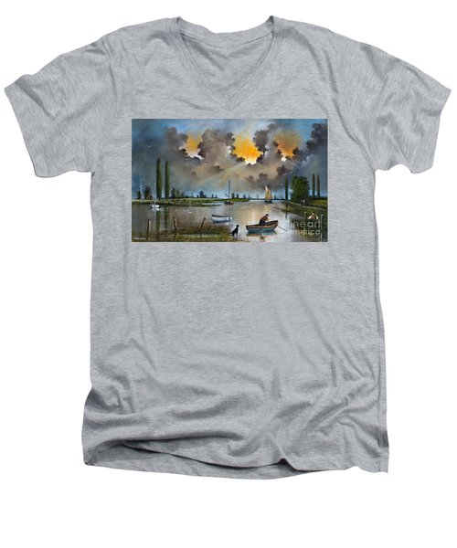 River Yare On The Broads Men's V-Neck T-Shirt