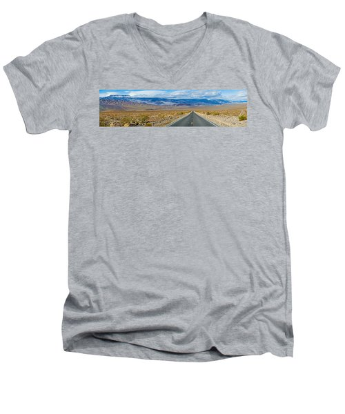 Road Passing Through A Desert, Death Men's V-Neck T-Shirt