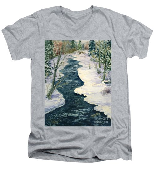 Rock Creek Winter Men's V-Neck T-Shirt