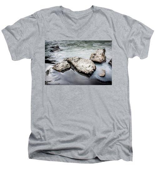 Rocks In The River Men's V-Neck T-Shirt by Andrew Matwijec