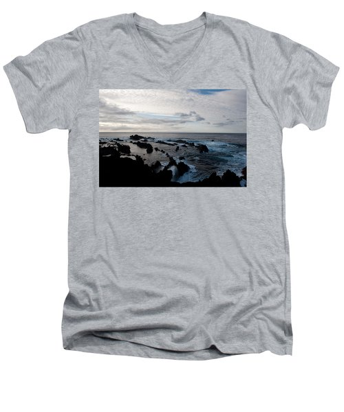 Rocky Beach At Dusk  Men's V-Neck T-Shirt