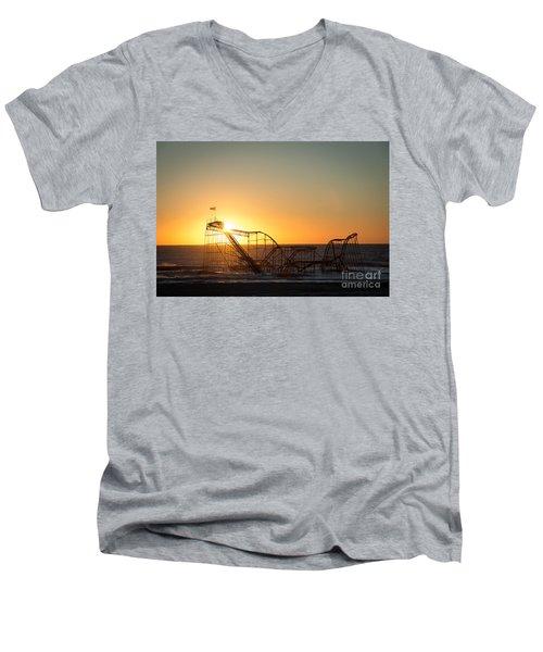 Roller Coaster Sunrise Men's V-Neck T-Shirt
