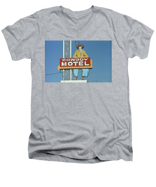 Route 66 - Cowboy Motel Men's V-Neck T-Shirt