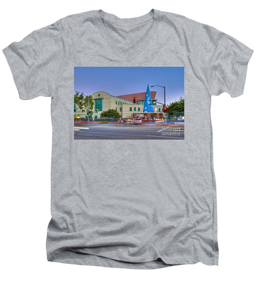 Roy E. Disney Animation Building In Burbank Ca. Men's V-Neck T-Shirt