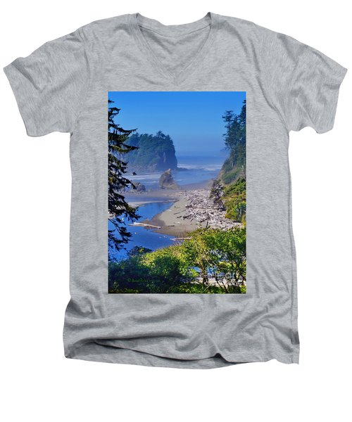Ruby Beach Men's V-Neck T-Shirt