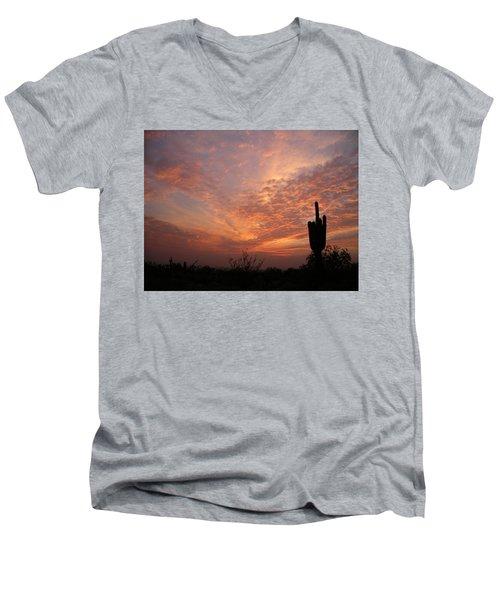 Saguaro Sunset Men's V-Neck T-Shirt