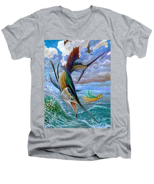 Sailfish And Lure Men's V-Neck T-Shirt