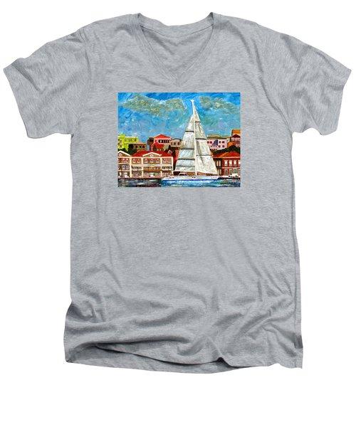 Sailing In Men's V-Neck T-Shirt