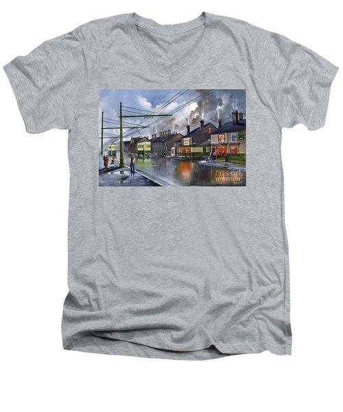 Salop Street Dudley C 1950 Men's V-Neck T-Shirt