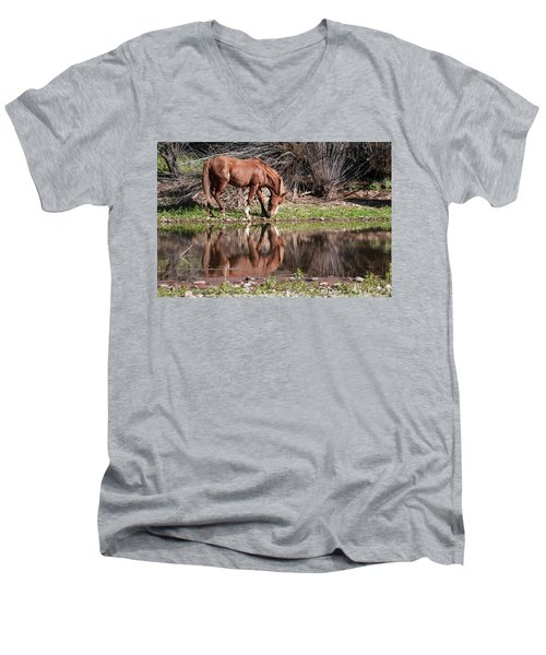 Salt River Wild Horse Men's V-Neck T-Shirt by Tam Ryan