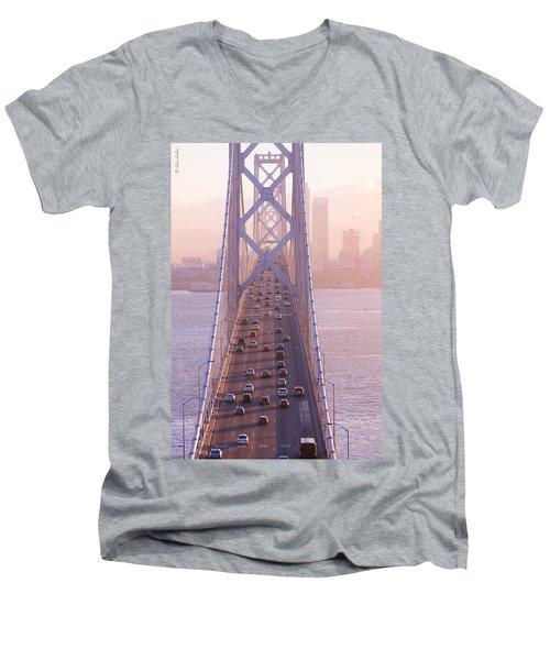 San Francisco Bay Bridge Men's V-Neck T-Shirt