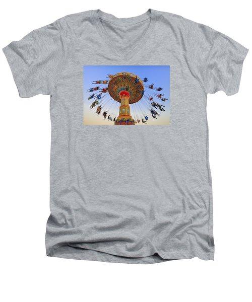 Santa Cruz Seaswing At Sunset 7 Men's V-Neck T-Shirt