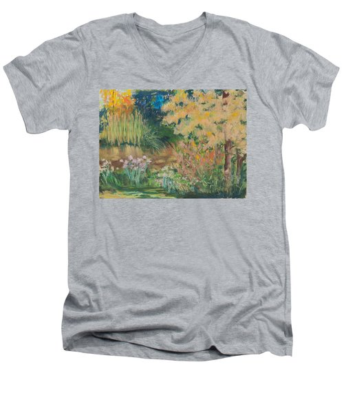 Saturday Morning Men's V-Neck T-Shirt by Lee Beuther