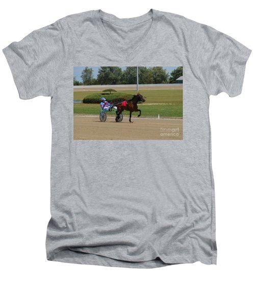 D39w-399 Scioto Downs Men's V-Neck T-Shirt
