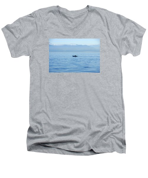 Serenity Men's V-Neck T-Shirt by Marilyn Wilson