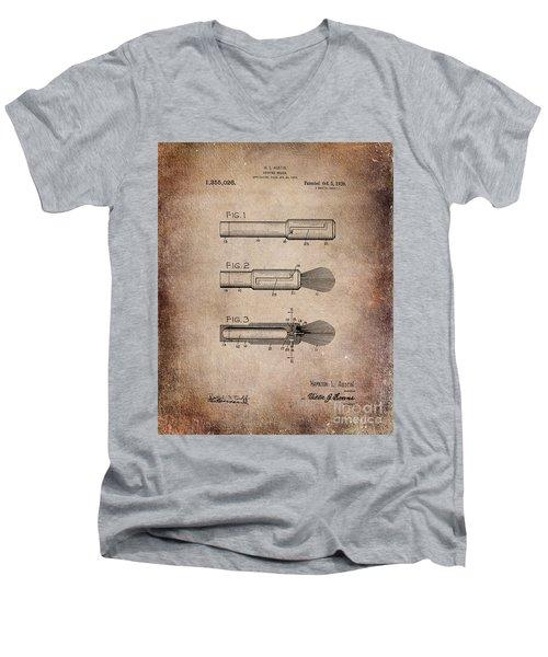 Shaving Brush Diagram 1920  Men's V-Neck T-Shirt