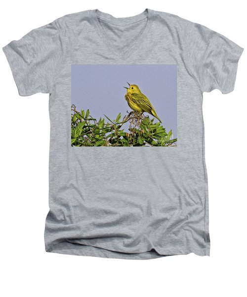 Singing Men's V-Neck T-Shirt