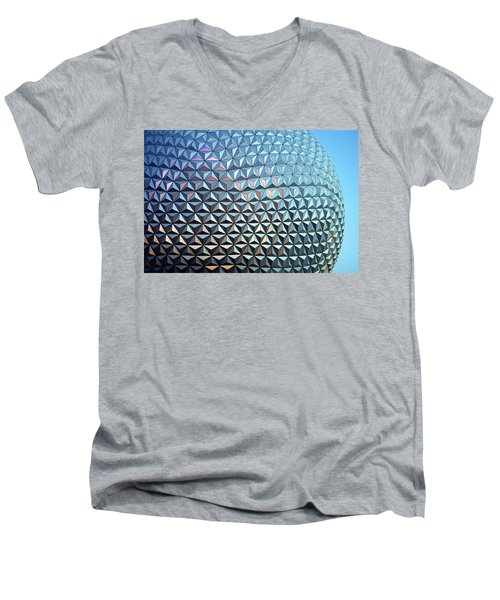 Men's V-Neck T-Shirt featuring the photograph Spaceship Earth by Cora Wandel