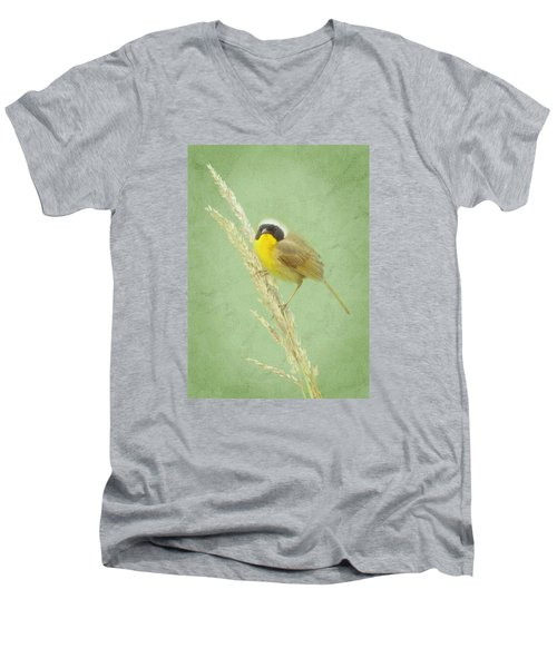 Men's V-Neck T-Shirt featuring the digital art Spring In The Marsh by I'ina Van Lawick