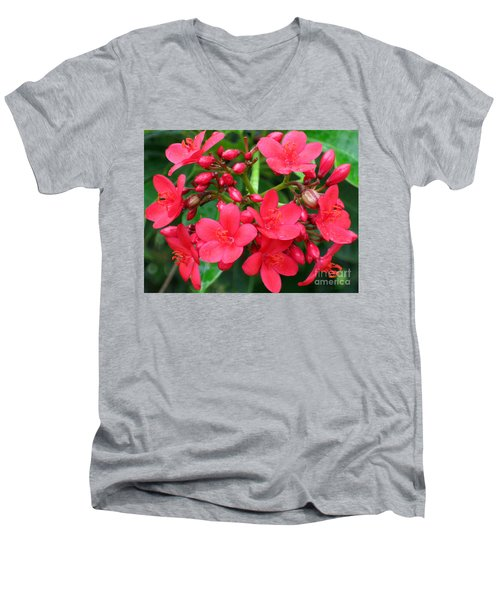 Lovely Spring Flowers Men's V-Neck T-Shirt