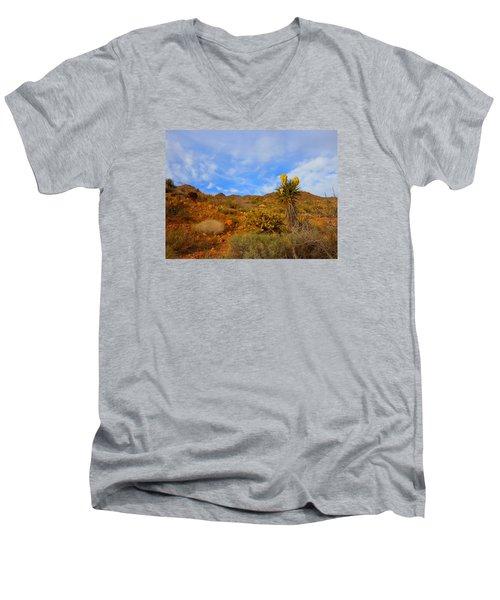 Springtime In Arizona Men's V-Neck T-Shirt