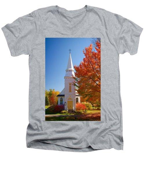 St Matthew's In Autumn Splendor Men's V-Neck T-Shirt