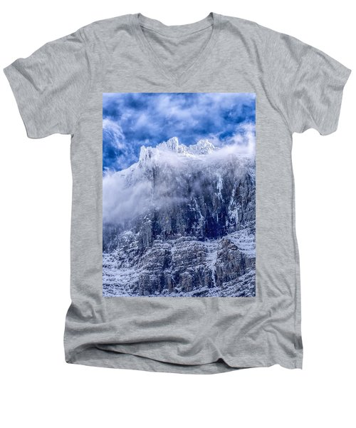 Men's V-Neck T-Shirt featuring the photograph Stone Cold by Aaron Aldrich