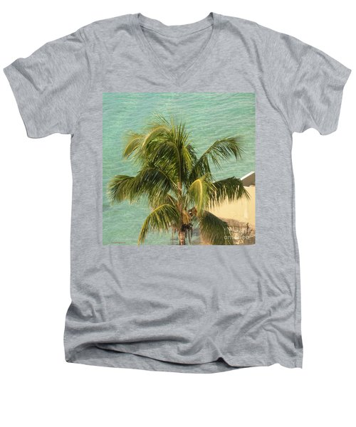 Men's V-Neck T-Shirt featuring the digital art Storm's A Coming by Luther Fine Art