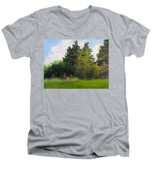 Summer Men's V-Neck T-Shirt by Jeanette Jarmon