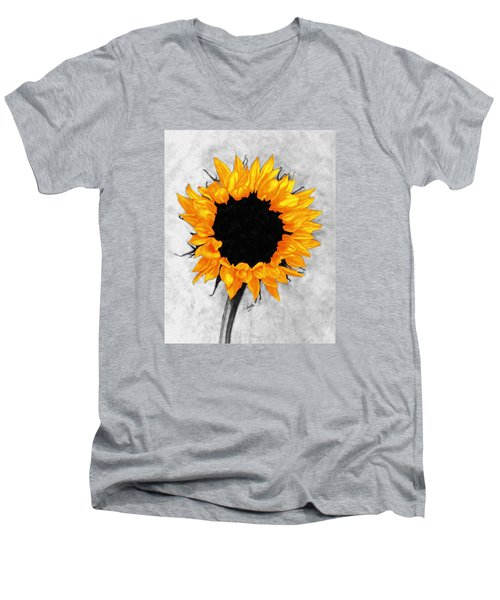 Men's V-Neck T-Shirt featuring the photograph Sun Fire 2 by I'ina Van Lawick