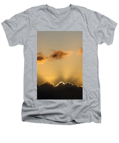Sun Rays And Dark Clouds Men's V-Neck T-Shirt