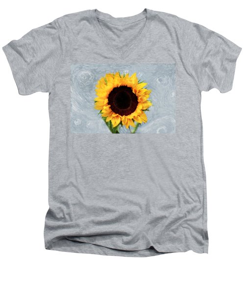 Men's V-Neck T-Shirt featuring the photograph Sunflower by Bill Howard