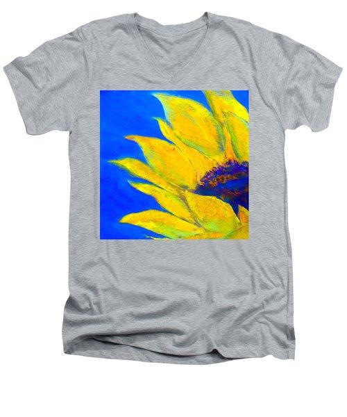 Sunflower In Blue Men's V-Neck T-Shirt