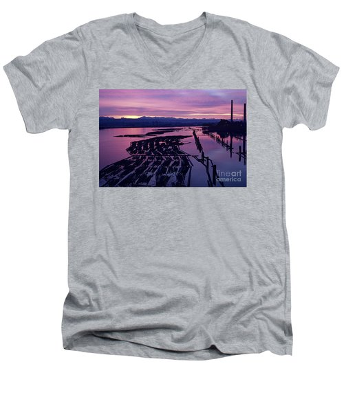 Sunrise Lumber Mill Men's V-Neck T-Shirt