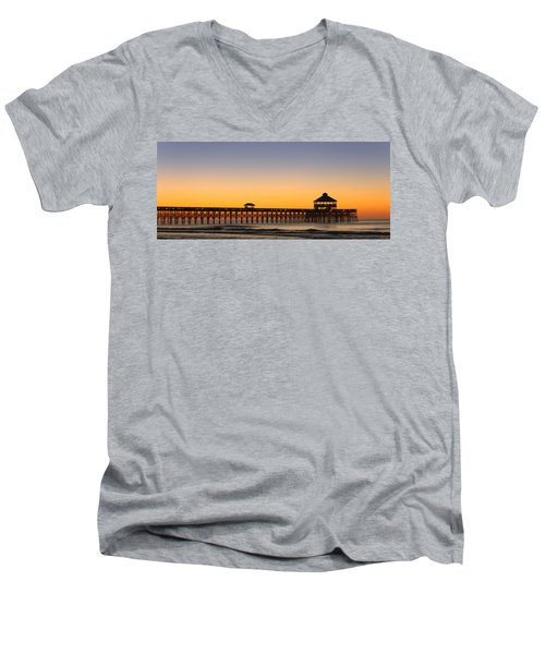Sunrise Pier Men's V-Neck T-Shirt