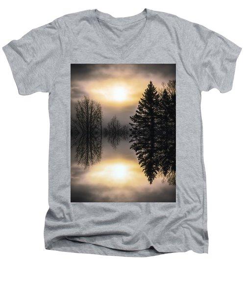 Sunrise-sundown Men's V-Neck T-Shirt by Sherman Perry