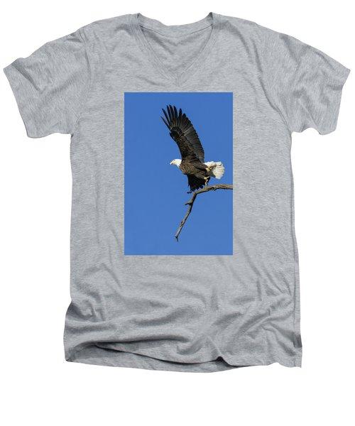 Take Off 2 Men's V-Neck T-Shirt by David Lester