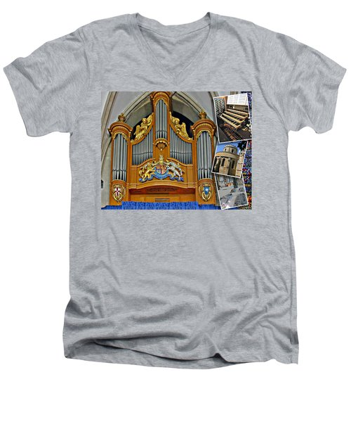 Temple Church London Men's V-Neck T-Shirt