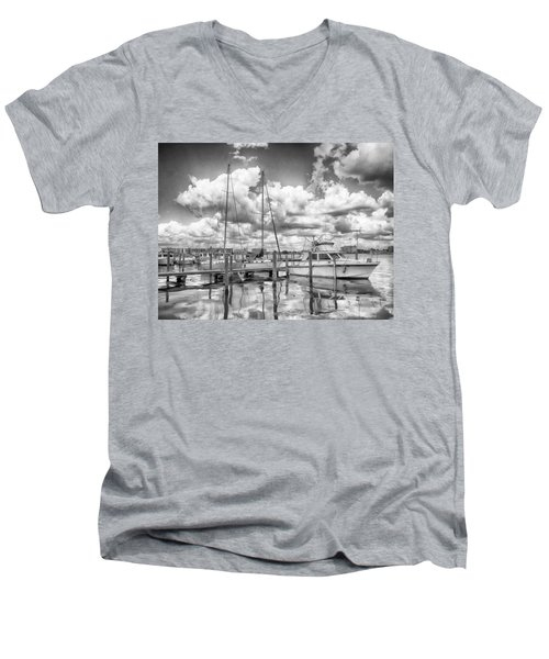 The Boat Men's V-Neck T-Shirt by Howard Salmon