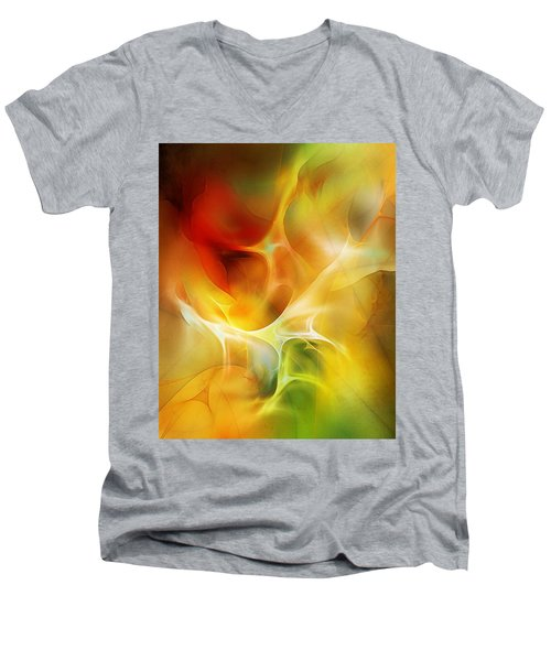 Men's V-Neck T-Shirt featuring the digital art The Heart Of The Matter by David Lane